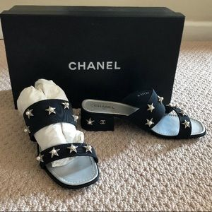 Last Chance! Chanel Black Mule w/ stars and pearls